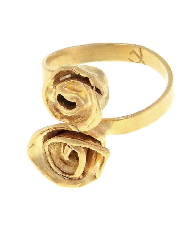 Ring Flower Gold Plated