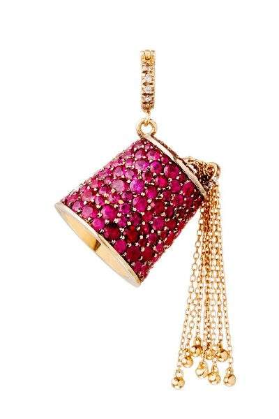 Small Ruby Tarbouche Pendant