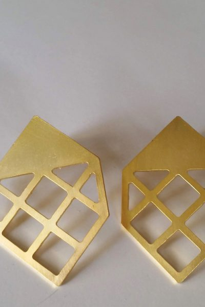 The Flat Cube Earrings