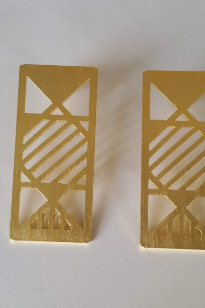 Rectangular Space Earrings