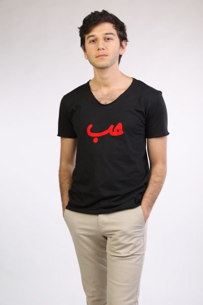 Black T-shirt With Red hob