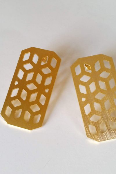 Cubic Patterned Earrings