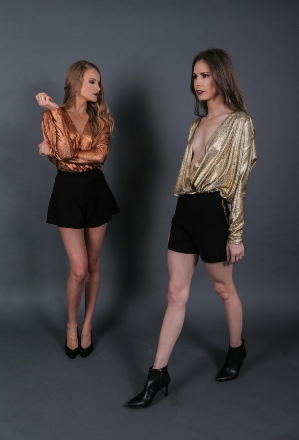 Full Body Metallic Top
