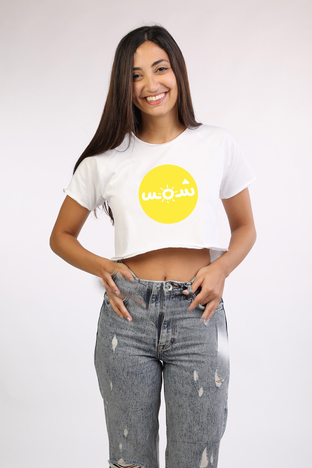 4d2fb6d7ebb White Crop Top With yellow shams - Lebelik