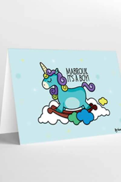 Baby Boy Gift Card – Mabrouk it's a boy