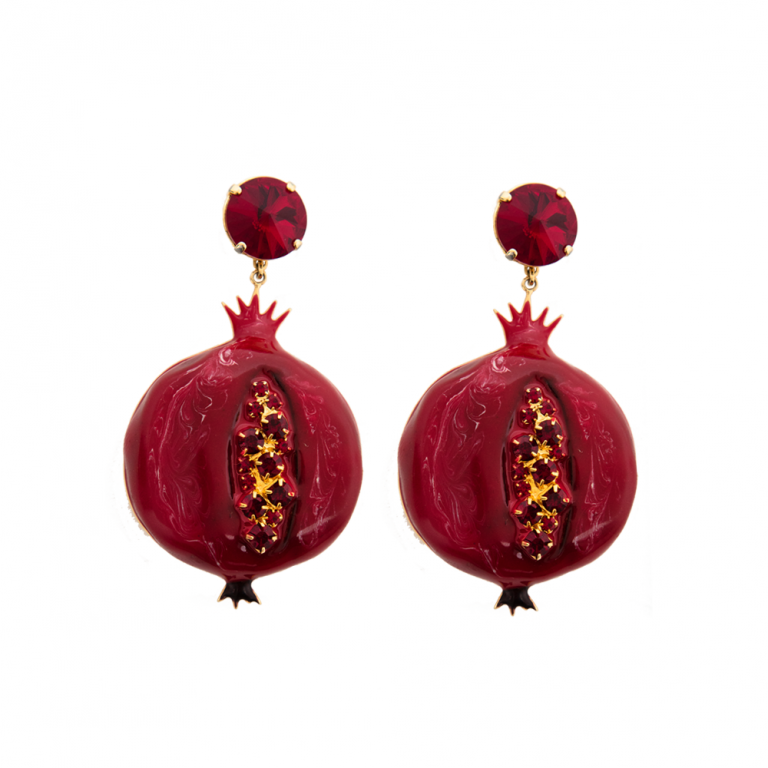 Pomegranate Large Earrings