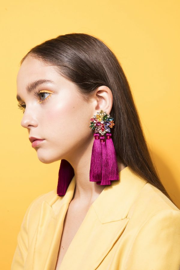 Rainbow With Tassels Earrings
