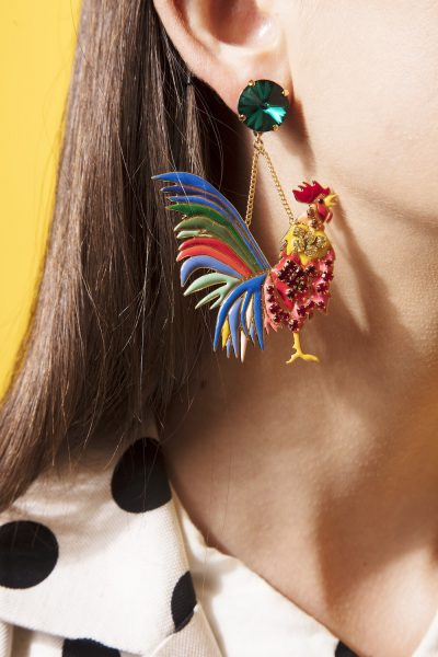 Rooster Large Earrings (1 Side Earring)