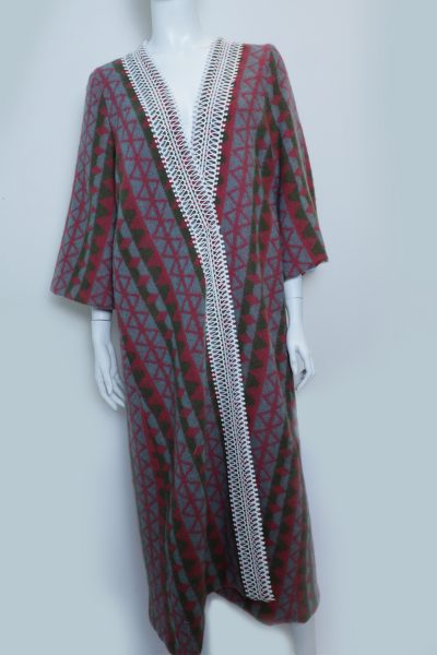 Three Color ZigZag Abaya
