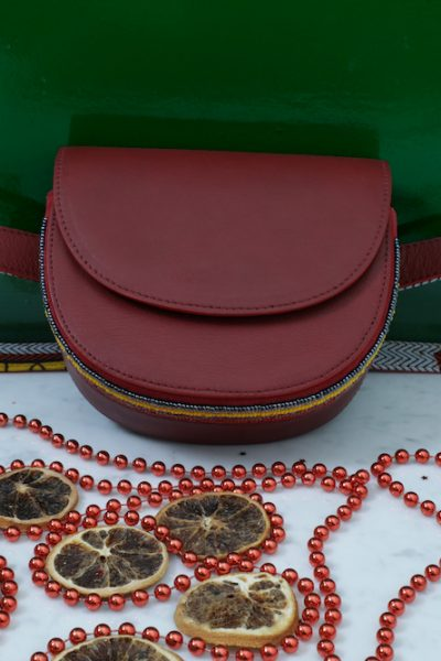 Hand Crafted Red Belt Bag