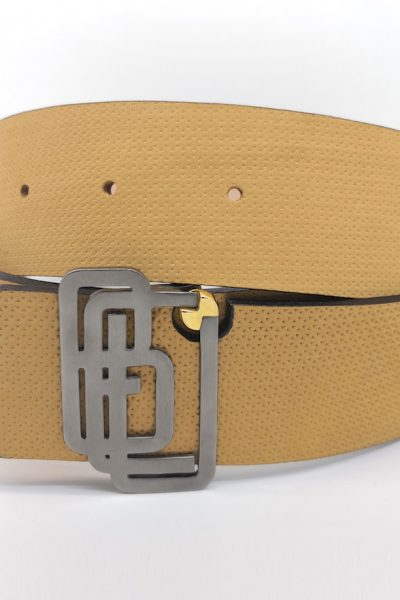 Genuine Leather Mustard Belt