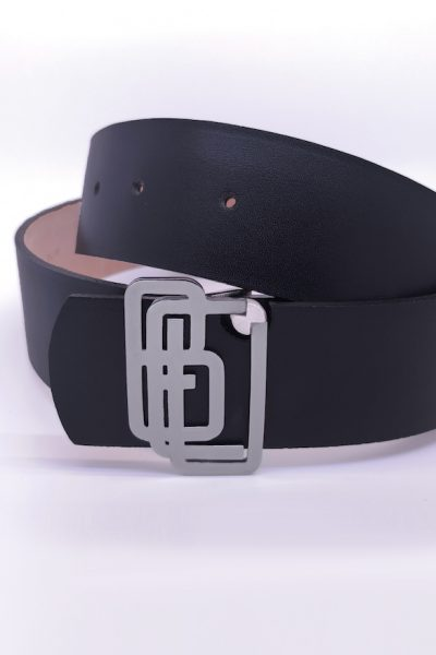 Genuine Leather Black Shiny Belt