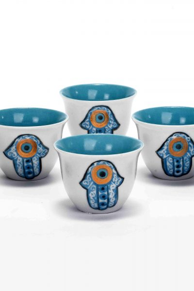 Eye Fatma Hand Coffee Cups Set of 6