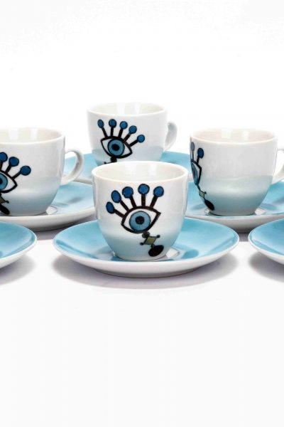 Funky Eyes Coffee Cups Set of 6