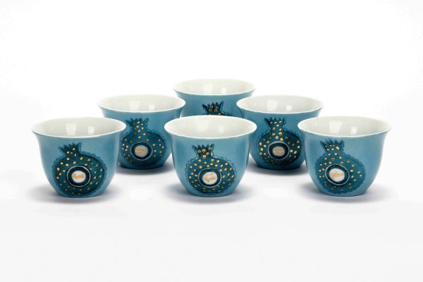 Pomegrenate Coffee Cups Set of 6