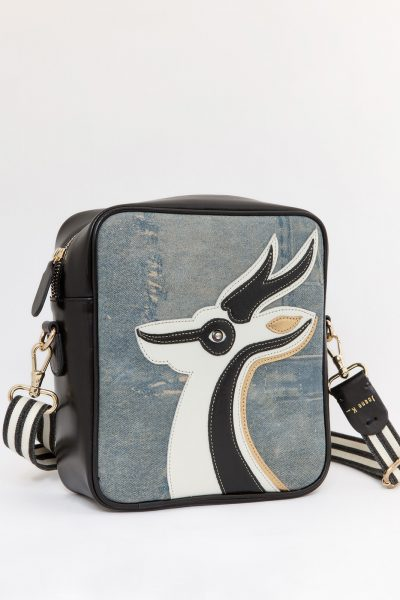 Gazelle Du Desert Cross Silver Black Gold Bag