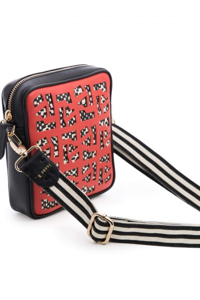 Upside Town Belt Red And Black Cross Bag