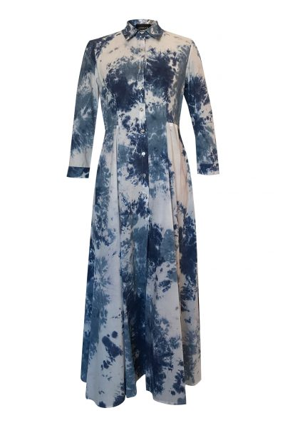 EEL Dress Tie Dye Blue