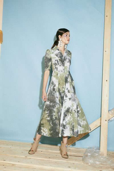 EEL Dress Tie Dye Green