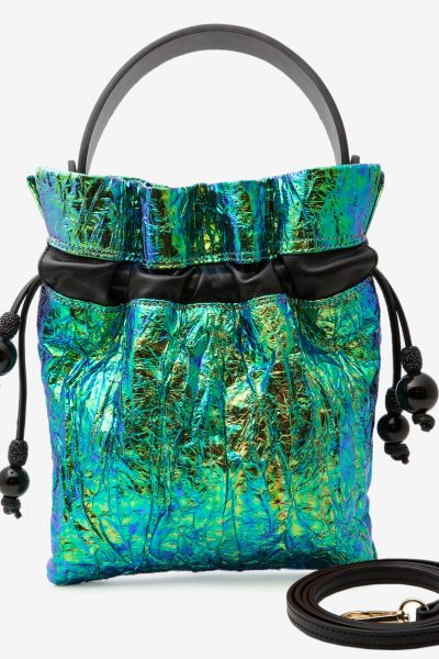 Oh My Jewels Green Blue HandBag