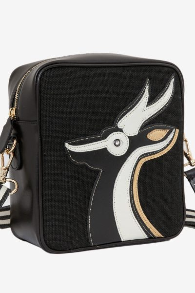 Gazelle Du Desert Cross Black Gold Bag