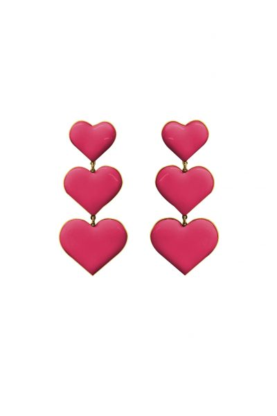 Heartstruck Pink Earrings