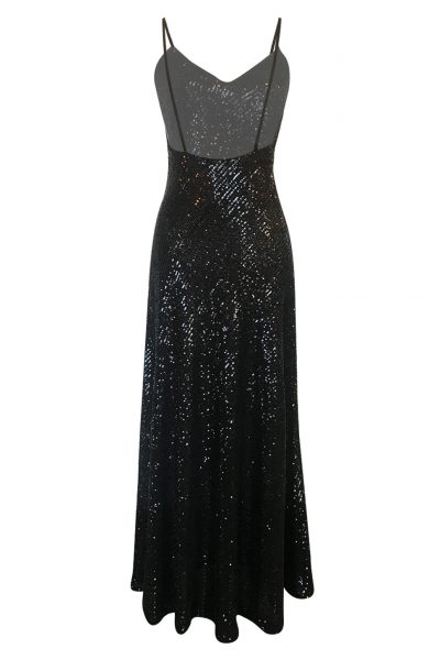 Moon Flower Black Sequins Dress