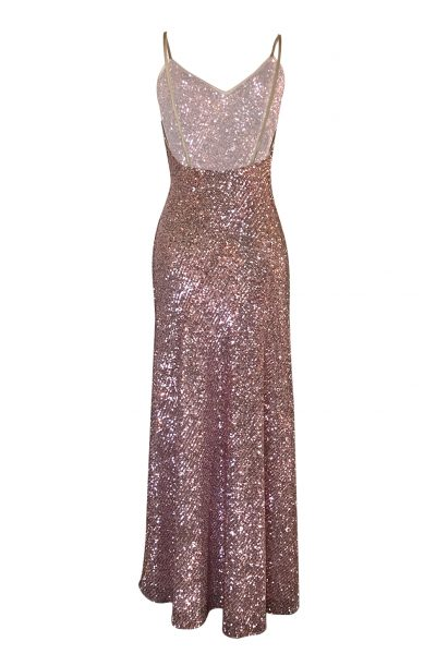 Moon Flower Pink Sequins Dress