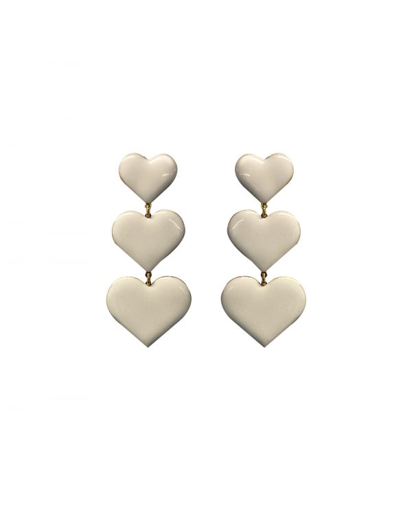 Heartstruck White Earrings