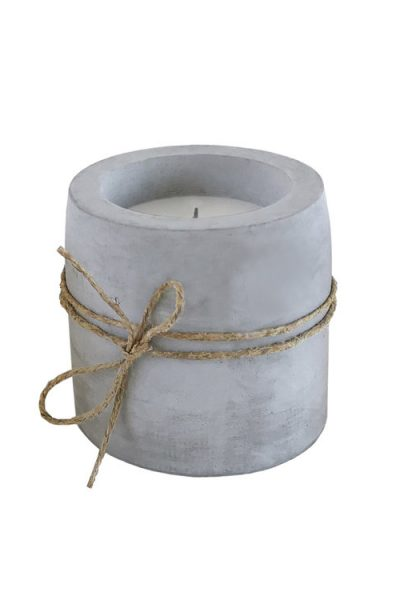 Plain cement candle
