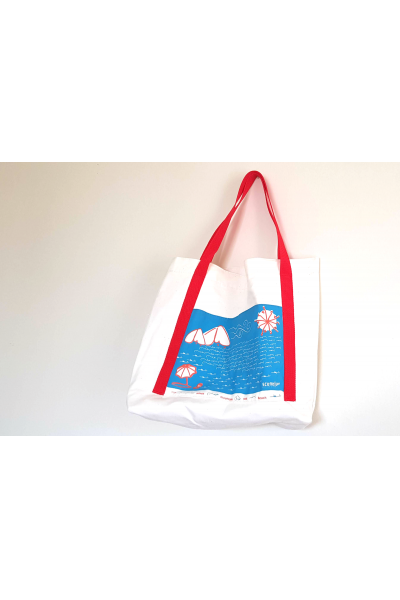 Beach Tote with Arabic Calligraphy Illustration