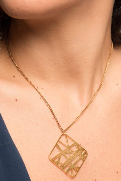 A Walk On The Bridge Gold Necklace