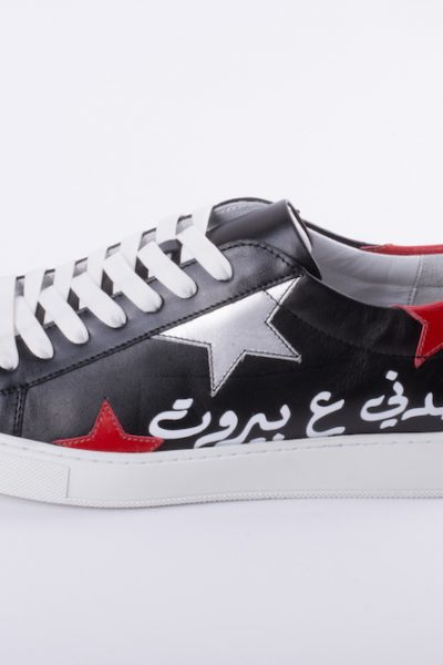 Men Black Red Beirut Sneakers
