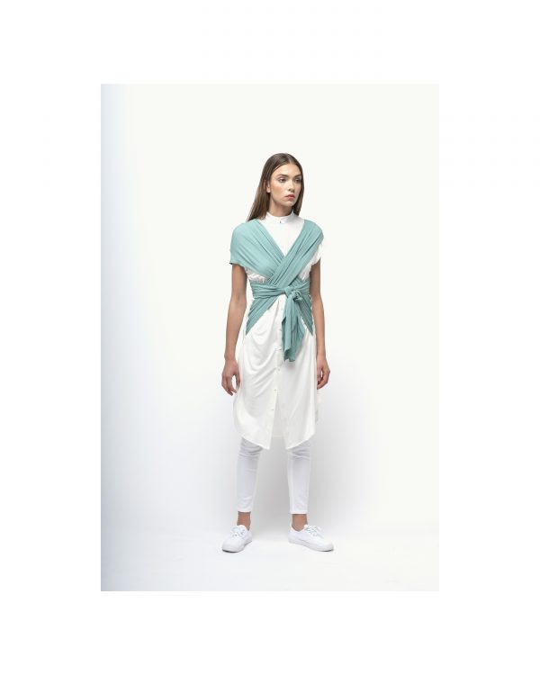 The White And Green X Dress Shirt