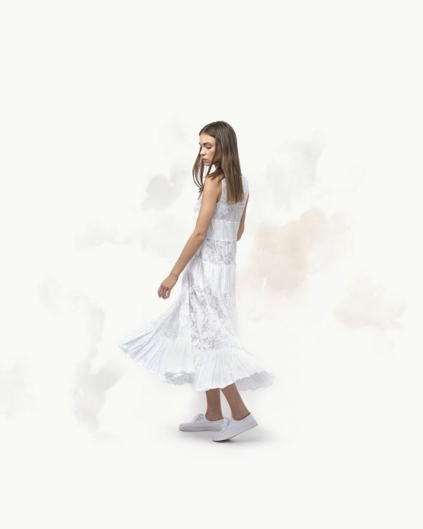 The White Ruffle Dress