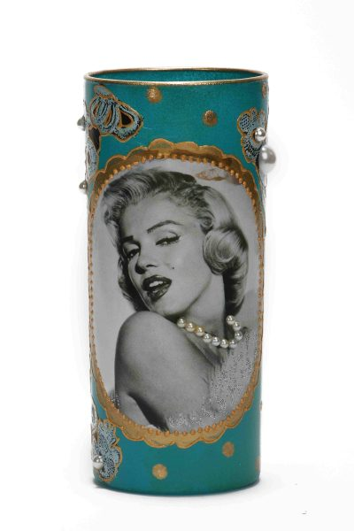Blue Marylin Candle Holder