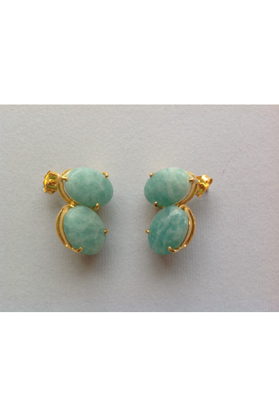 Bo PtiBonbon Light Green Earrings