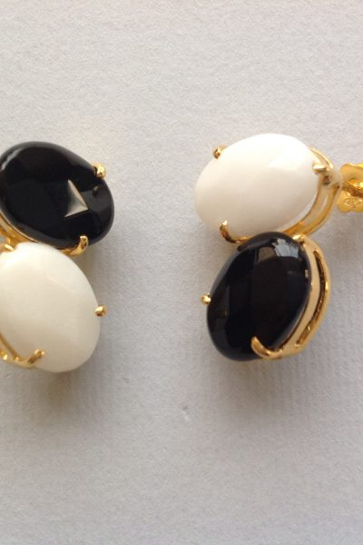 Bo PtiBonbon Black White Earrings