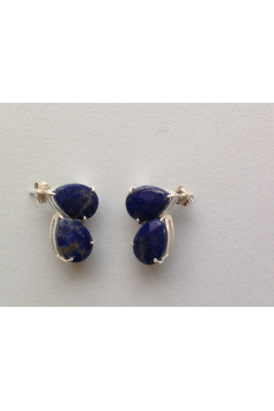 Bo PtiBonbon Navy Earrings