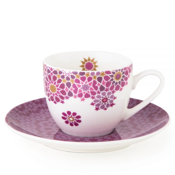 Cup With Saucer Moucharabieh Parme 90 ml – 4Pcs