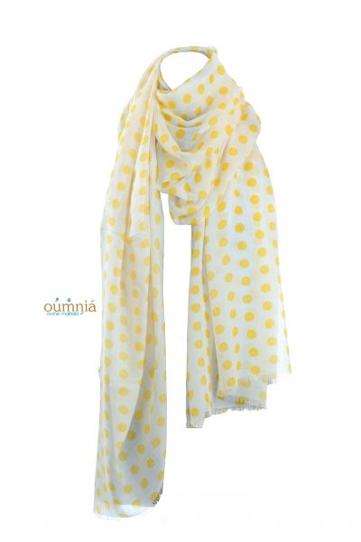 Yellow Polka Dots Shawl