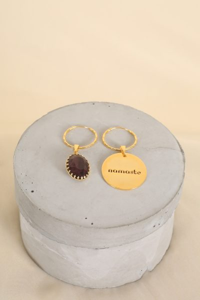Nomaste Twin Medallion Hoops
