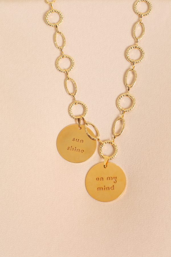 Twin Medallions Necklace
