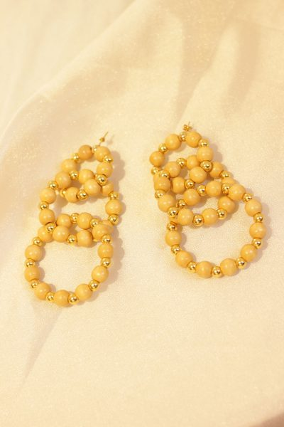 Wooden Simis Pearl Hoops
