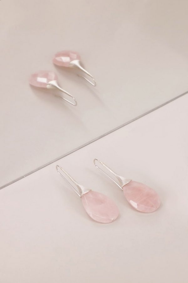 Pink Trompette Handmade Earrings