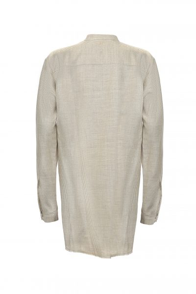 QAMIS 02 – LINEN SHIRT | SAND STRIPES