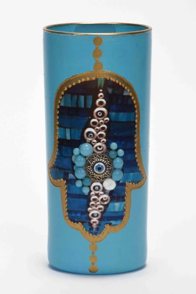 Blue Fatma Candle Holder