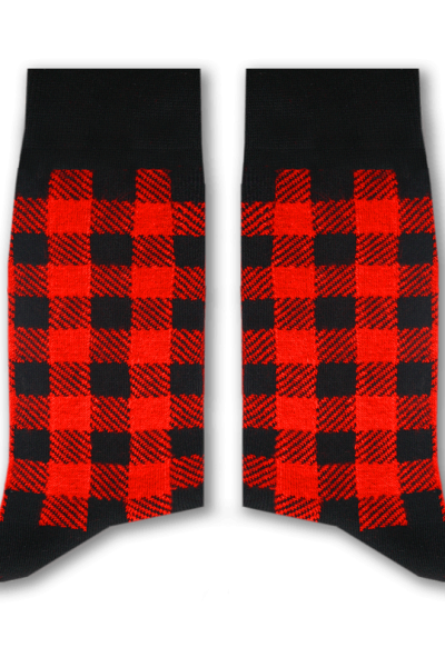 Checkered Socks (Red)