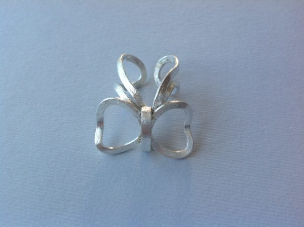 Butterfly handmade silver ring