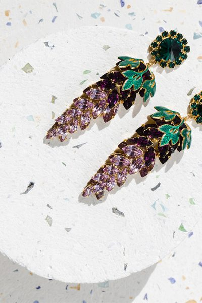 Lavender Long Earrings